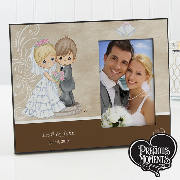 Personalized Precious Moments Picture Frames Bride Groom