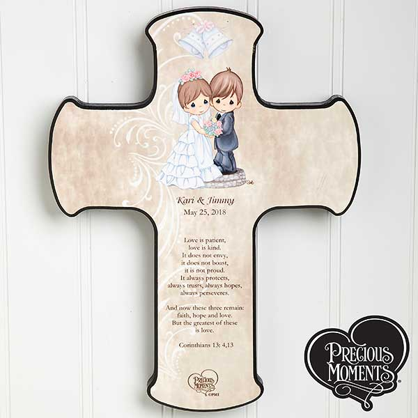 Personalized Precious Moments Wedding Wall Cross - 11682