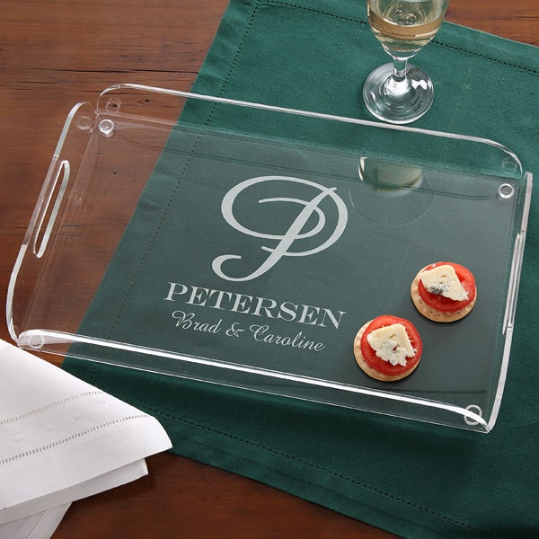 Personalized Serving Tray - Monogram & Name - 11685