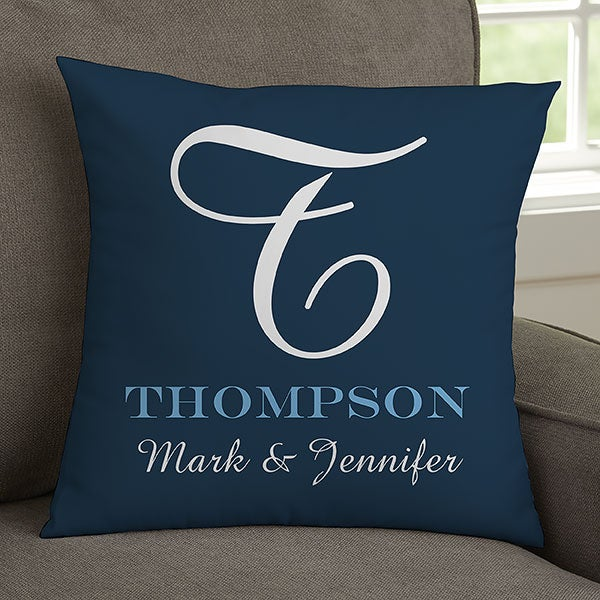 Personalized Throw Pillows - Family Monogram 9d5be273ff73