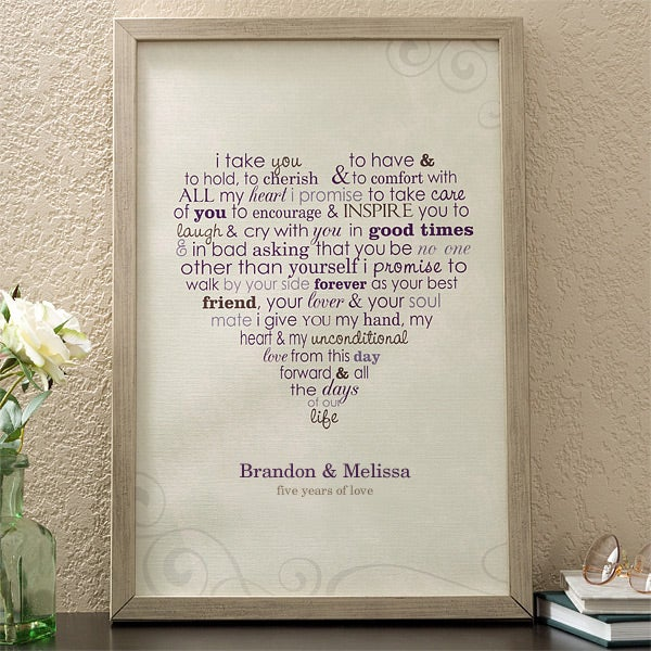 11696   Wedding Vows Personalized Canvas Art   Champagne Frame