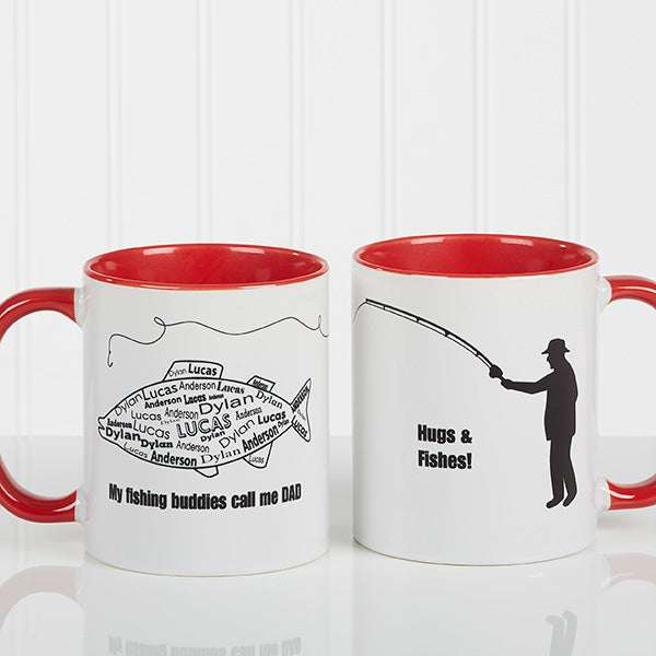 Personalized Coffee Mugs - Fisherman - What A Catch - 11719