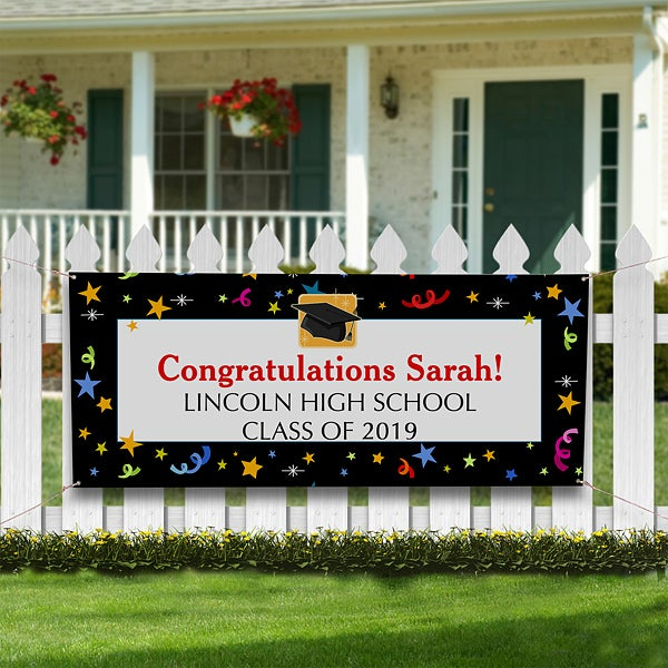 personalized graduation party banners let s celebrate