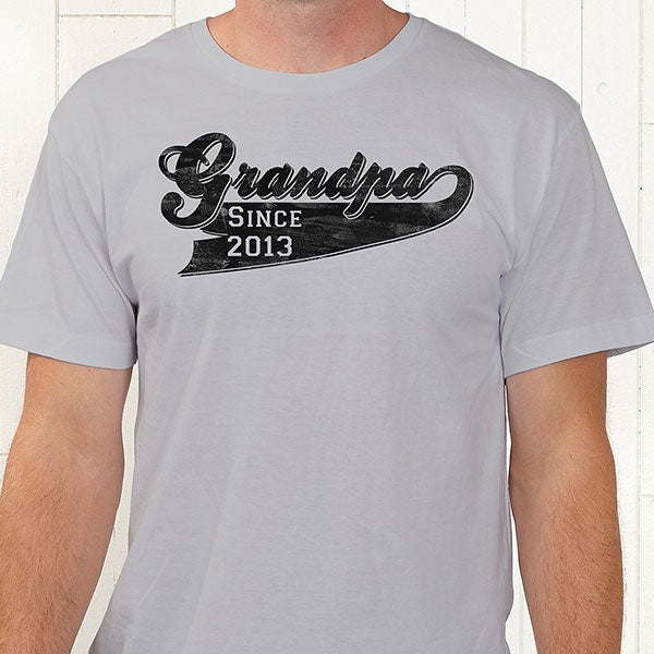 6d21d46c Personalized Grandfather T-Shirt - Grandpa Since - For Him