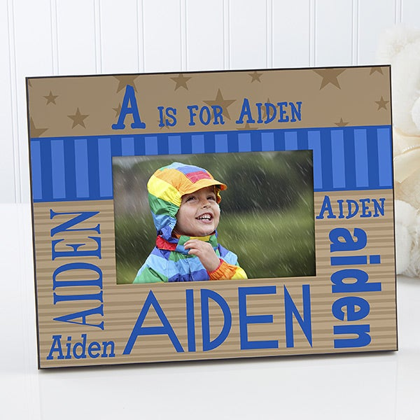 Personalized Kids Picture Frames - Boys Alphabet Name - 11848