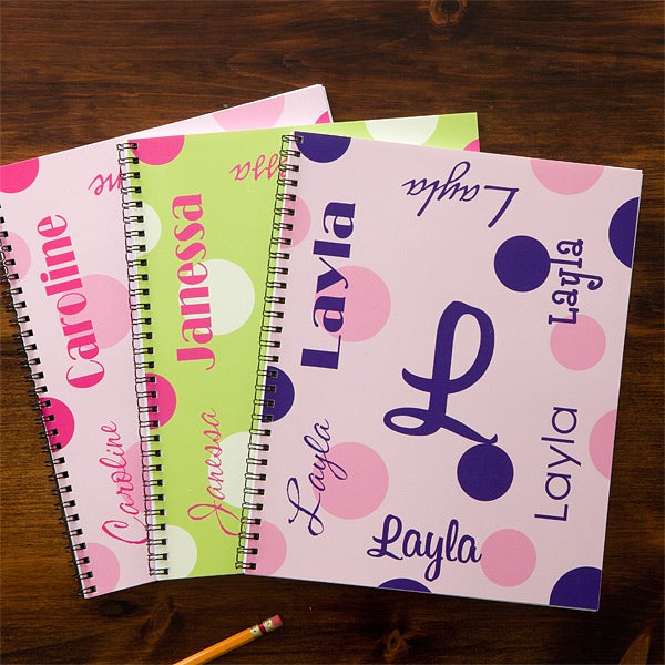 Personalized Notebooks for Girls - My Name - 11849