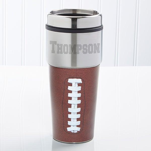 Personalized Football Travel Mug - 11914