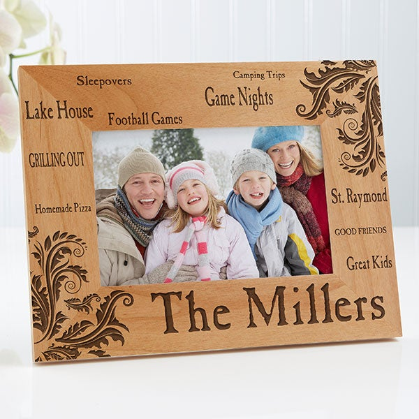 Cat Photo Frame Personalized