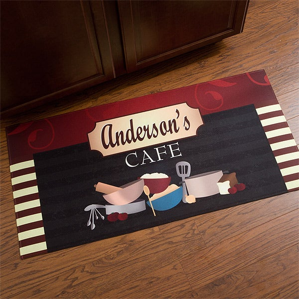 Personalized Kitchen Mat - Family Bistro - 12005