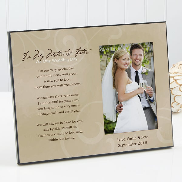 Personalized Wedding Picture Frame To My Parents