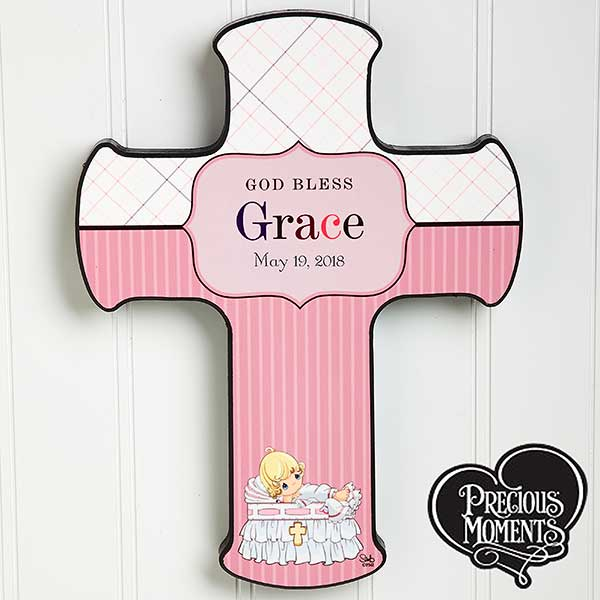 Personalized Christening Wall Cross - Precious Moments - 12067
