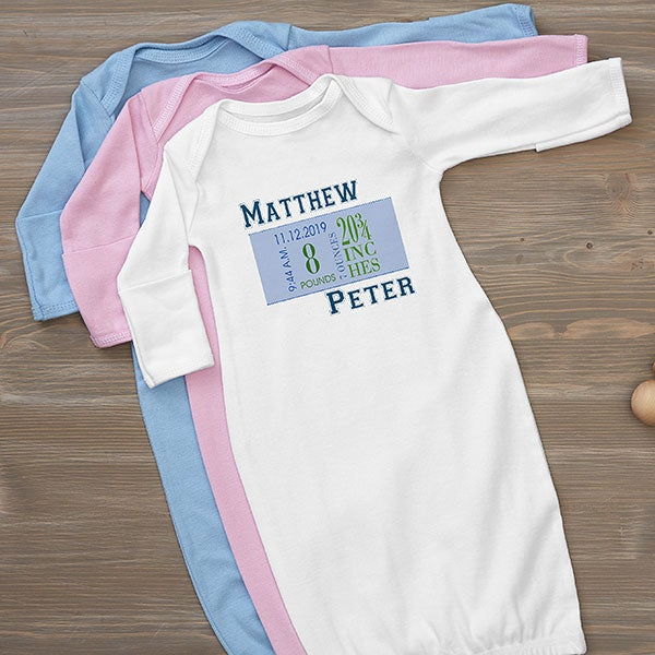 Personalized Baby Boy Clothes Birth Date