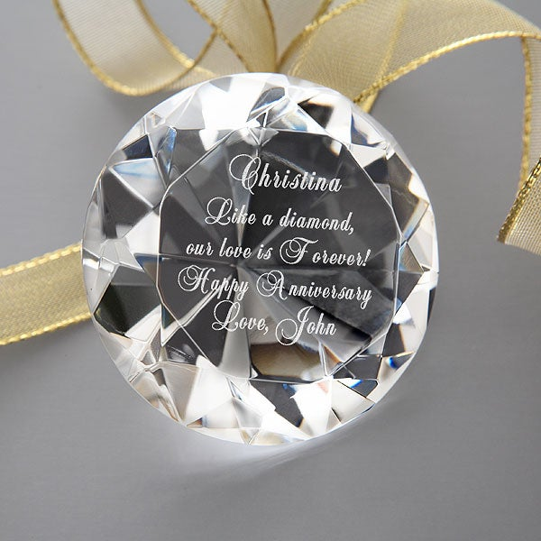 Personalized Diamond Paperweight Gifts for Her - 1208