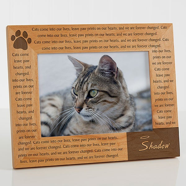 Personalized Pet Memorial Picture Frame - Paw Prints On Our Heart - 12125