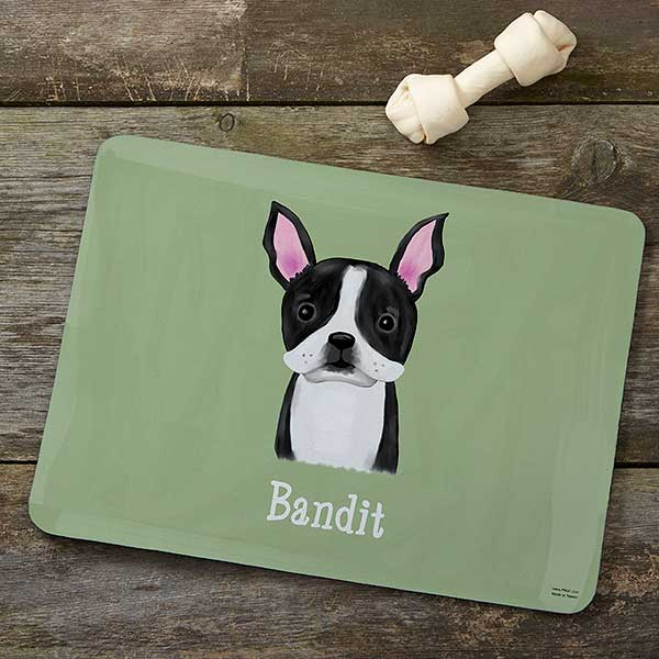 Personalized Dog Food Mat - Top Dog Breeds - 12131
