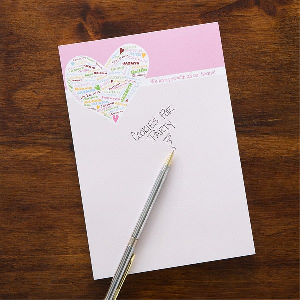Personalized Notepads for Mom - Her Heart of Love - 12209