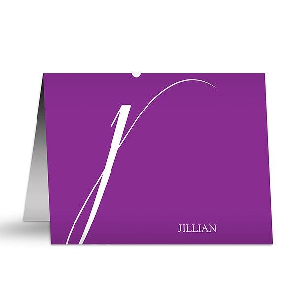 Personalized Note Cards - Stylish Monogram - 12221