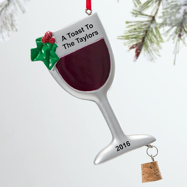 Holiday Wine Personalized Ornament