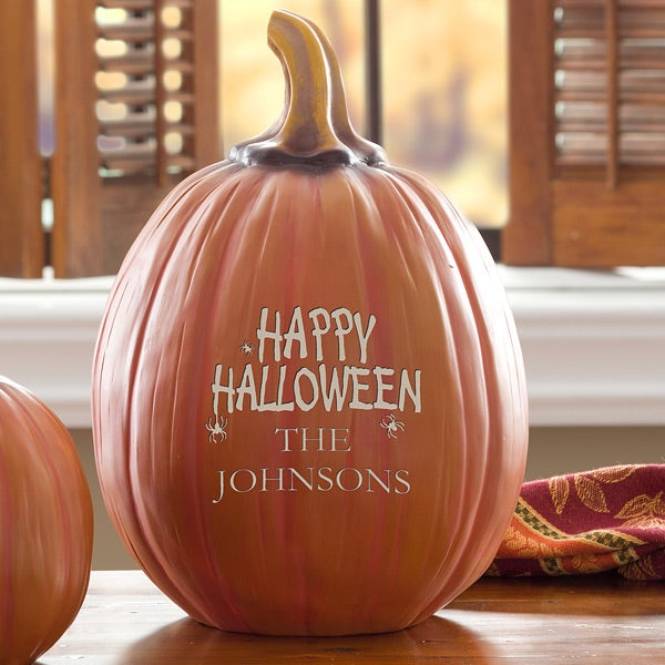 Personalized Halloween Decorations - Happy Halloween Pumpkin - 12300