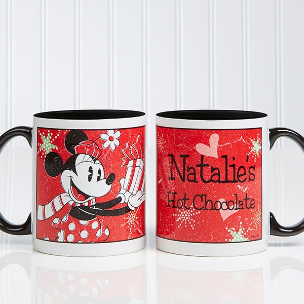 Christmas Coffee Mugs.Disney Season Of Wonder Personalized Minnie Mouse Coffee Mug