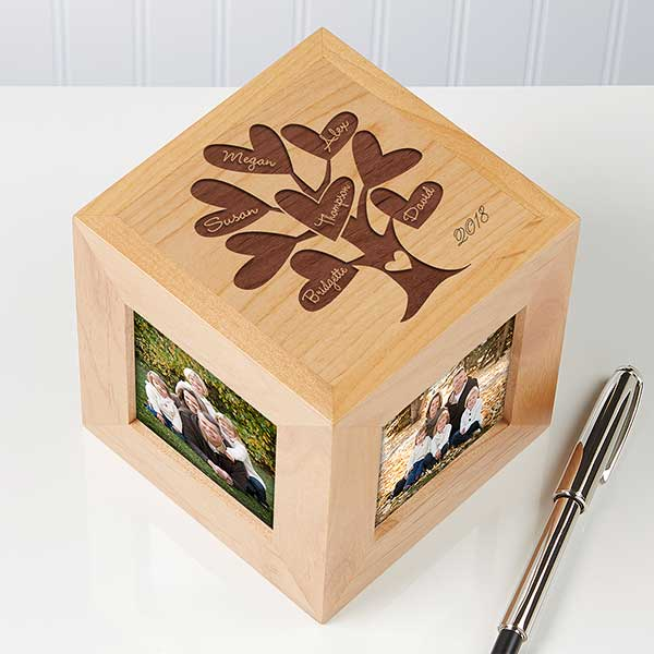 Personalized Photo Cubes - Family Tree - 12380