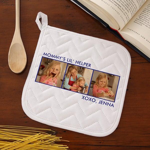 Personalized Photo Aprons & Potholders - 12384