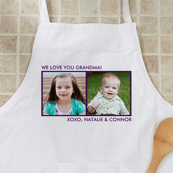 "Personalized Apron as Gifts for Grandma"" border="