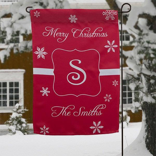 Personalized Holiday Garden Flags - Winter Wonderland - 12407