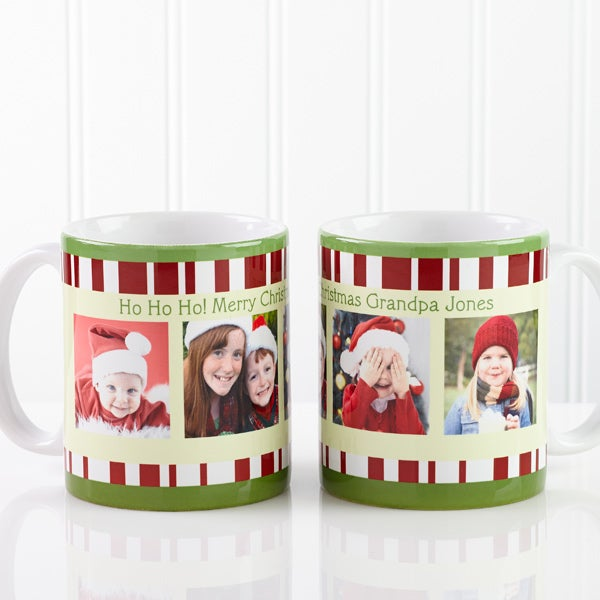 12409 - Christmas Photo Message Personalized Coffee Mug