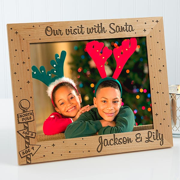 Personalized Christmas Picture Frames - Santa & Me - 12419