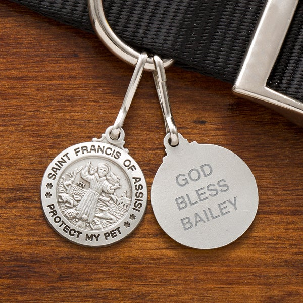 Personalized St Francis Dog Tag Medal - 12451