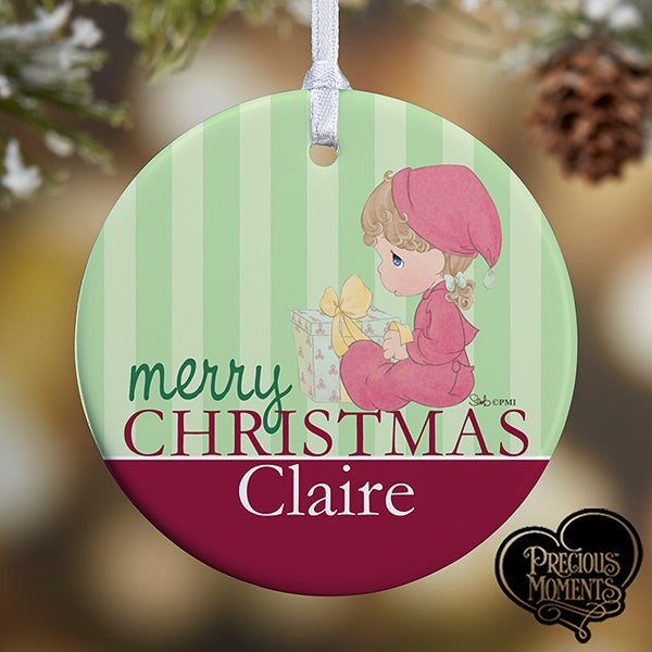personalized babys first christmas ornaments precious moments 12464