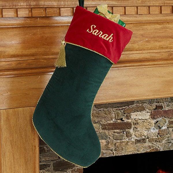 Personalized Christmas Stockings - Velvet - 12476
