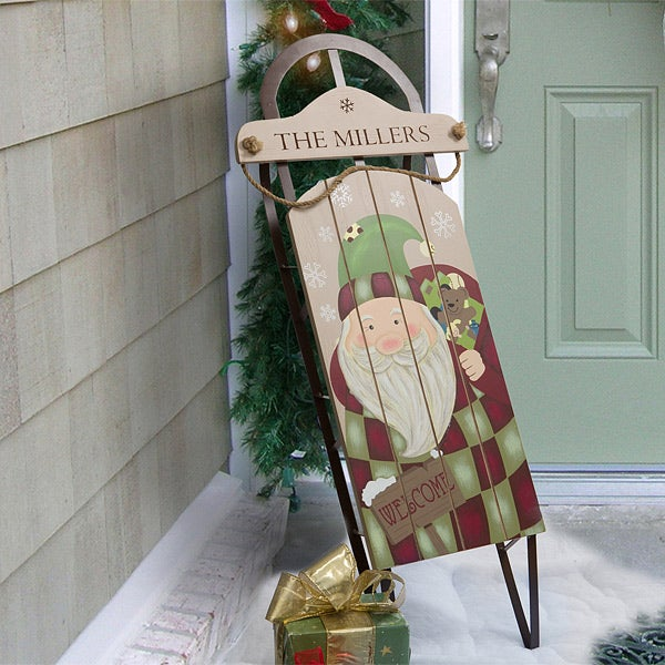 personalized christmas decor santa claus sled 12499