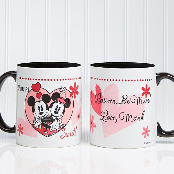 a60eb265 Personalized Mickey Mouse & Minnie Mouse Coffee Mugs - You're Sweet - 12501