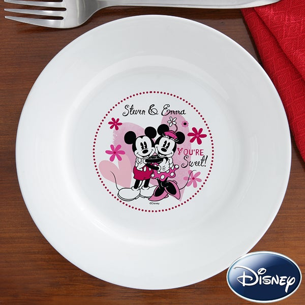 Personalized Mickey Mouse & Minnie Mouse Plates - You're Sweet - 12503