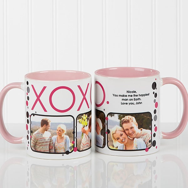 Personalized Photo Coffee Mugs - Hugs & Kisses - 12531