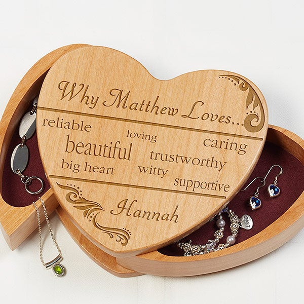 Why I Love You Personalized Jewelry Box