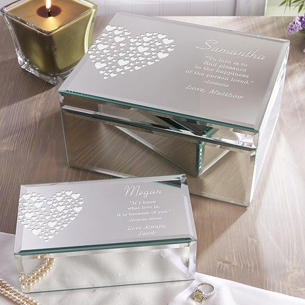 Love Is Kind Engraved Mirrored Storage Box