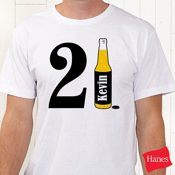 21st Birthday Personalized HanesR T Shirt