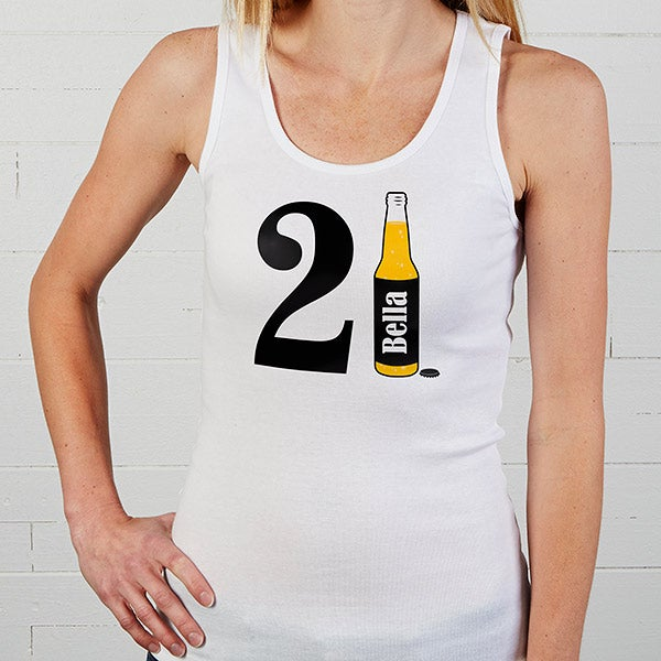 Personalized 21st Birthday Apparel - 21st Birthday Beer - 12586