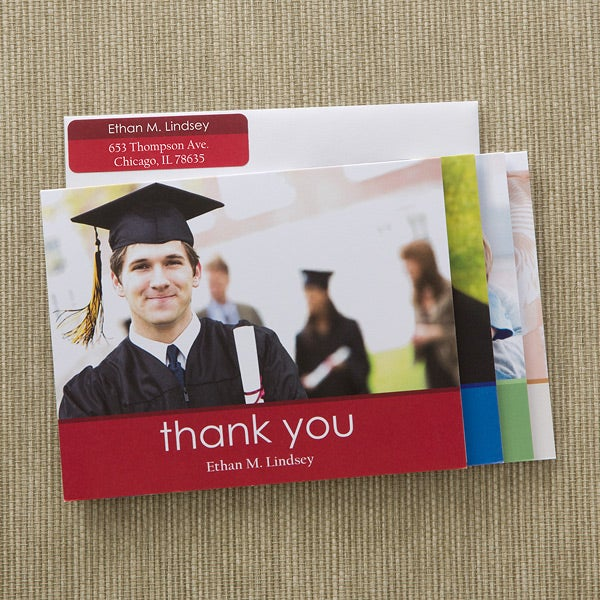 Graduation Thank You Photo Note Cards Envelopes
