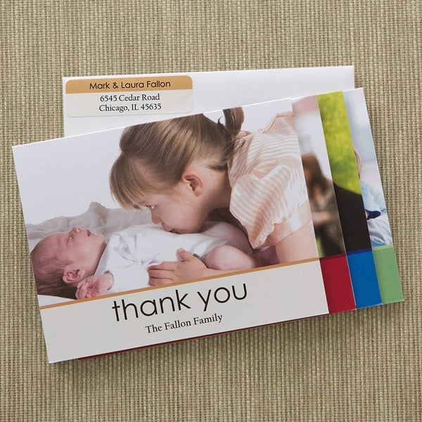 Personalized Baby Photo Thank You Note Cards - 12603