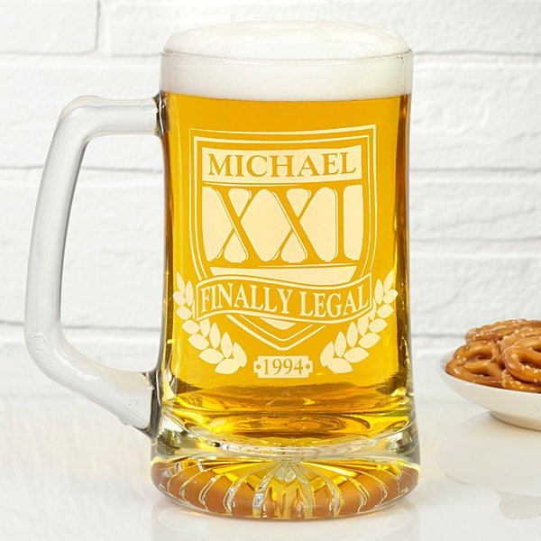 Free Personalization Fast Shipping Brewmasters Personalized Birthday Beer Mugs You Can Customize With Your Own Text