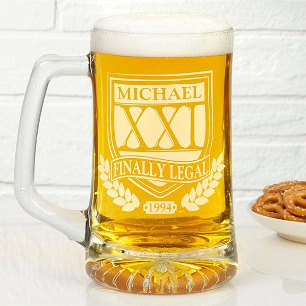 Personalized Birthday Beer Mugs