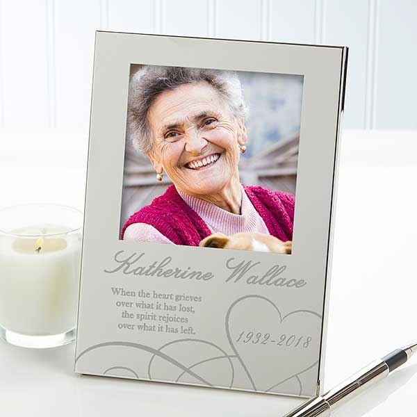 Personalized Silver Memorial Picture Frame - Remembering