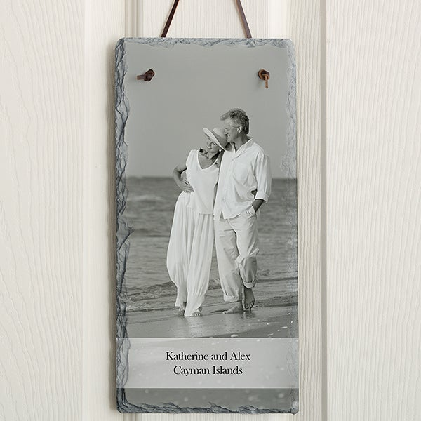 Personalized Photo Slate Wall Plaque - Vertical - 12633
