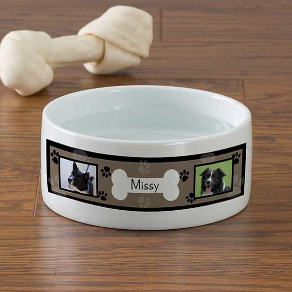 Photo Personalized Dog Bowls - Throw Me A Bone - 12717
