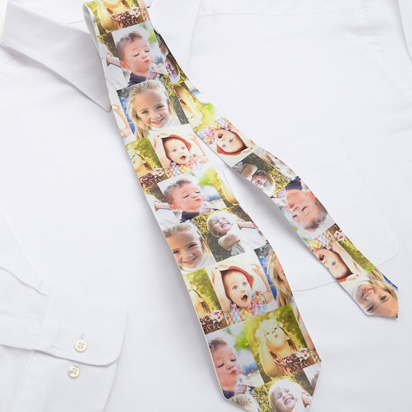 Personalized Photo Collage Ties - Favorite Faces - 12728