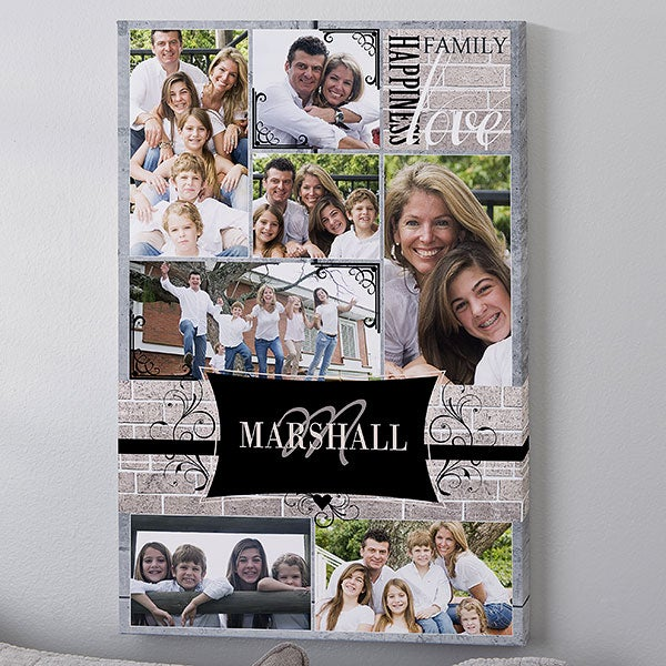 Personalized Photo Collage Canvas Art